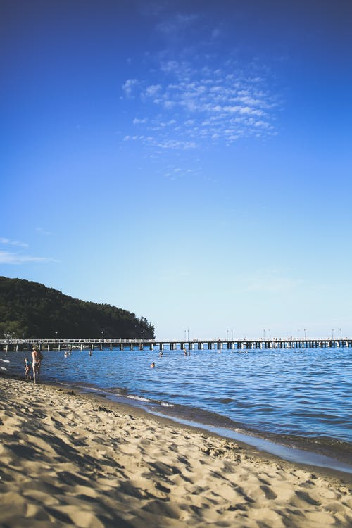 Ingyenes stockfotó homok, idegenforgalom, kék, móló témában