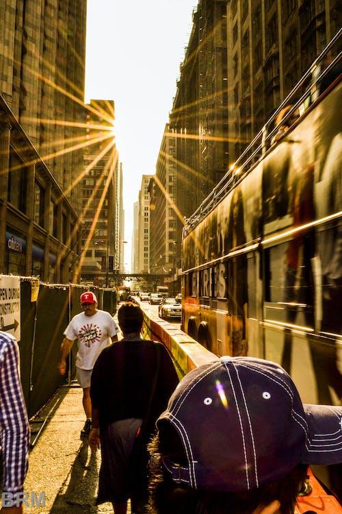 Ingyenes stockfotó emberek, épületek, lencsefény, nap témában