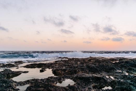 Blue Ocean Shore during Daytime