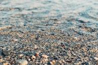 beach, water, rocks
