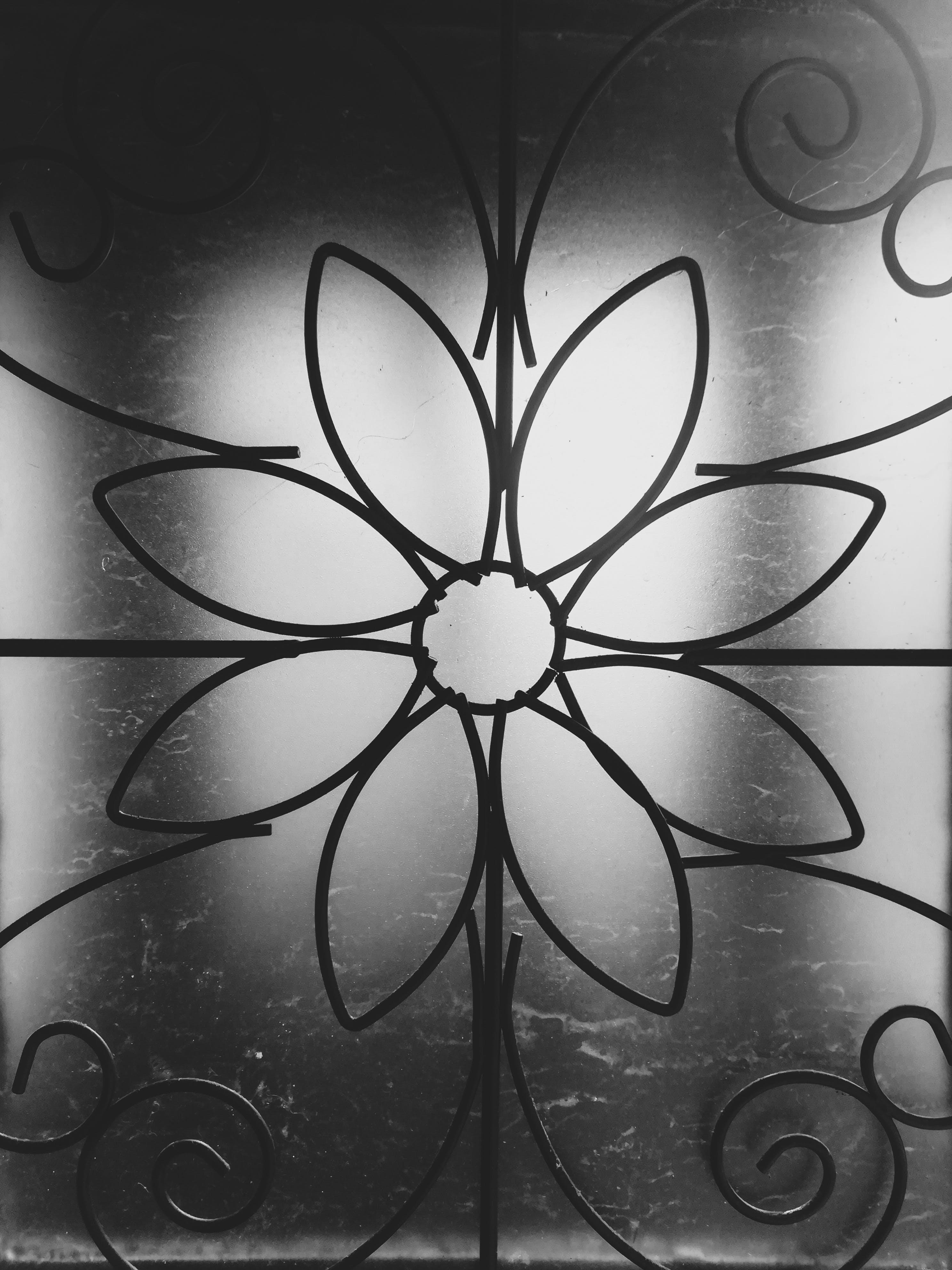 Free stock photo of black and white, christmas, decor, glass