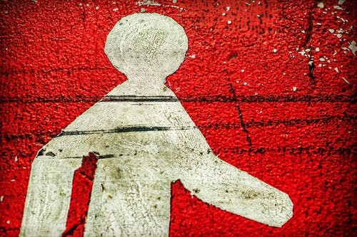 Kostenloses Stock Foto zu dreckig, kunst, mauer, rot