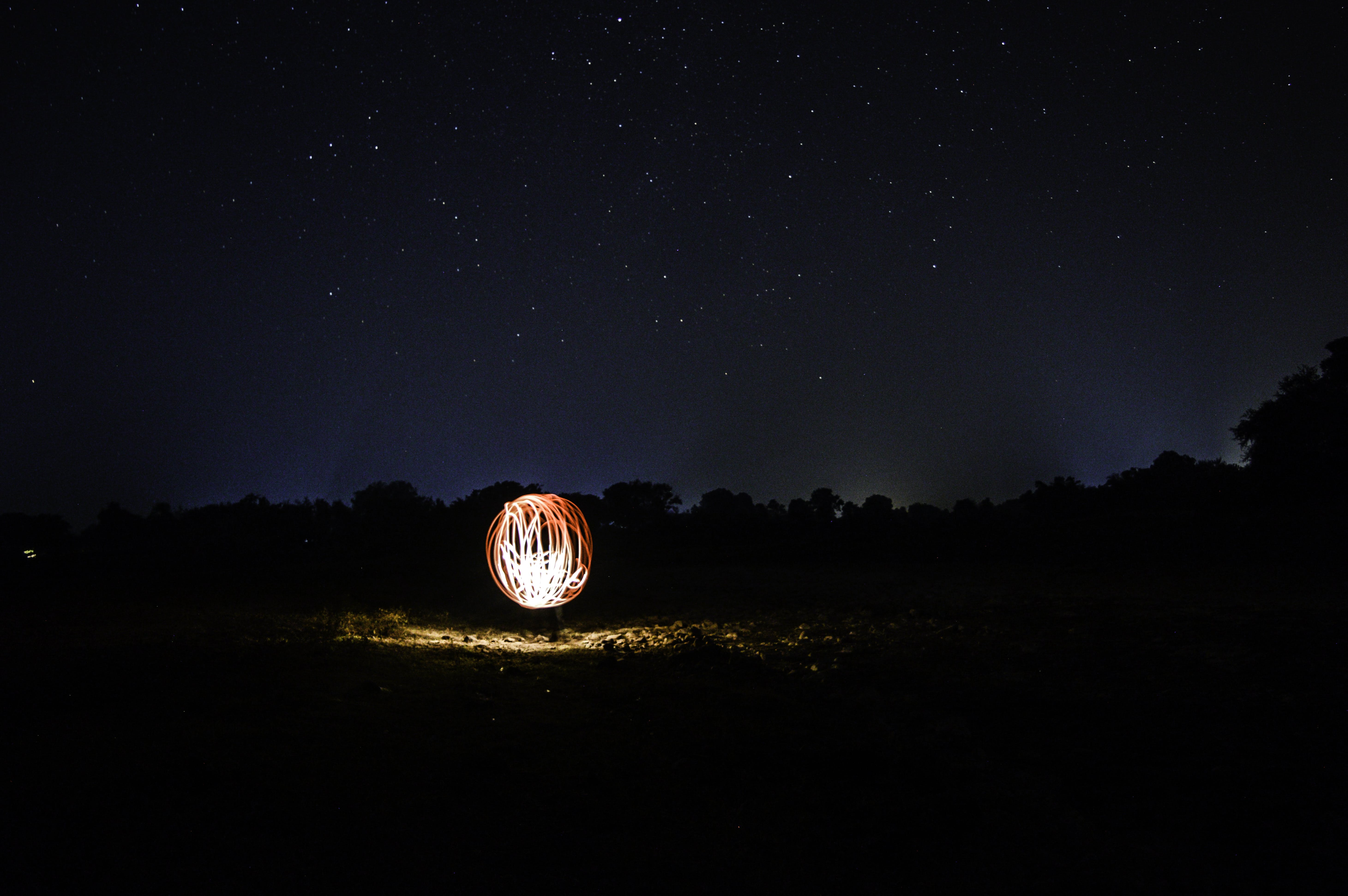 Free stock photo of astrophotography, Globe Under The Sky, long exposure, night lights