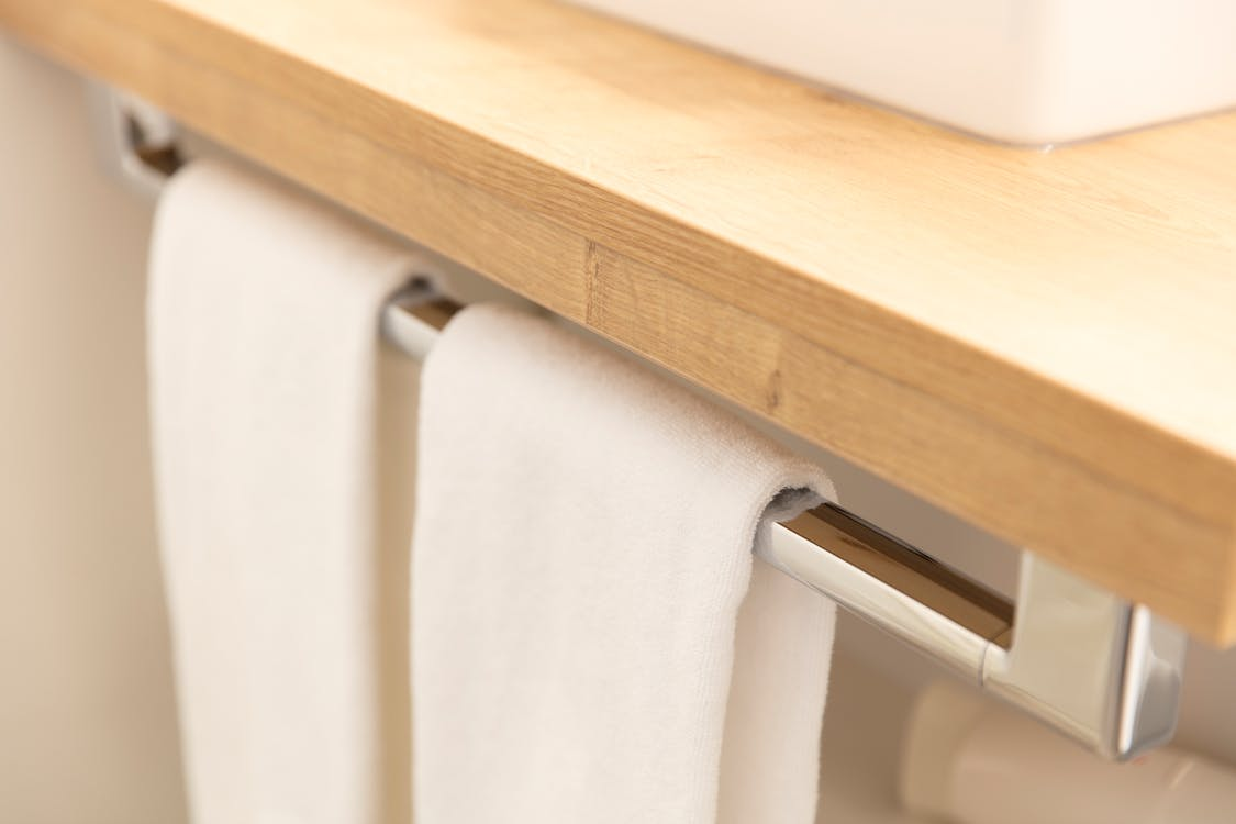 Free stock photo of bath towels, blur, carpentry