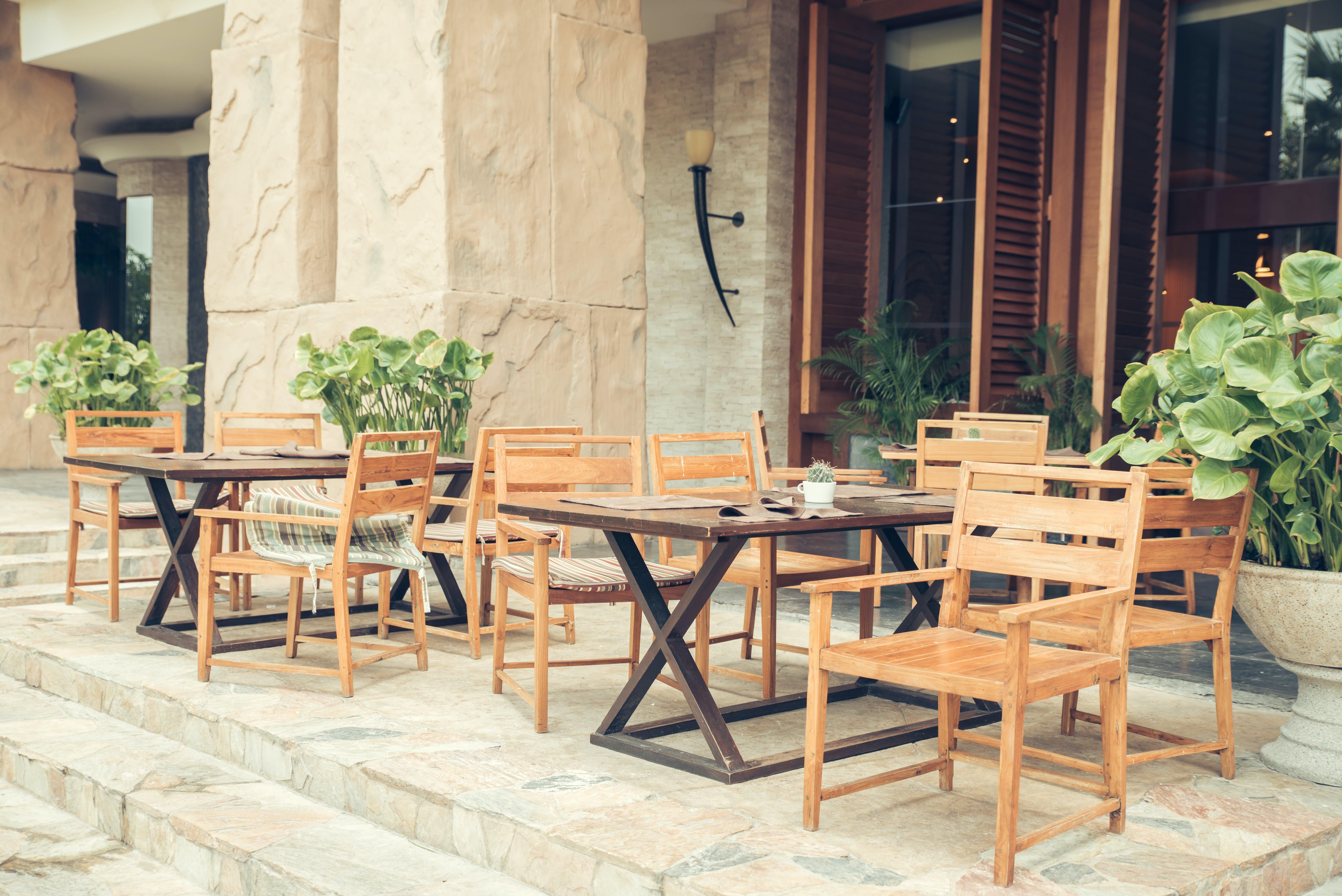 Ingyenes stockfotó bútorok, étterem, fa, fények témában