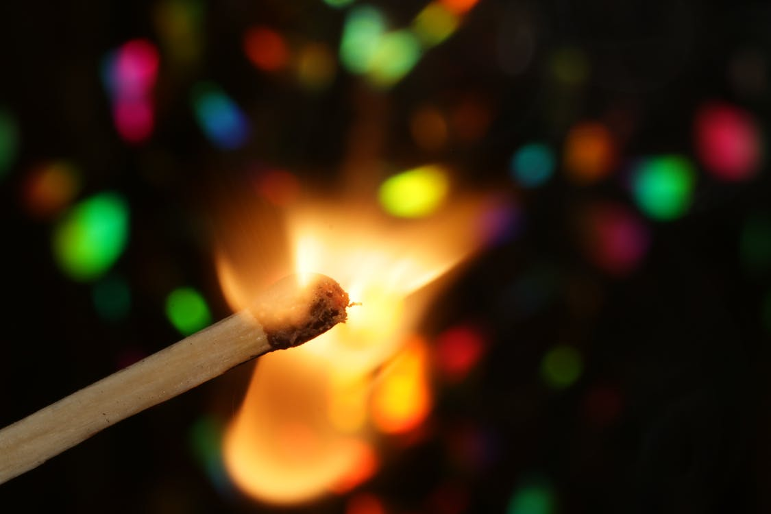 매치, 불, 불꽃