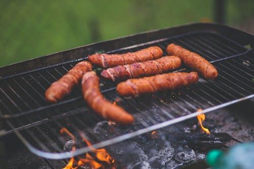 Foto stok gratis alat barbecue, alat bq, alat panggang, api