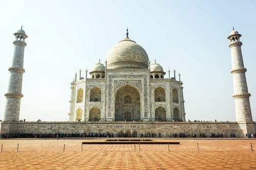 Close Up View of Taj Mahal