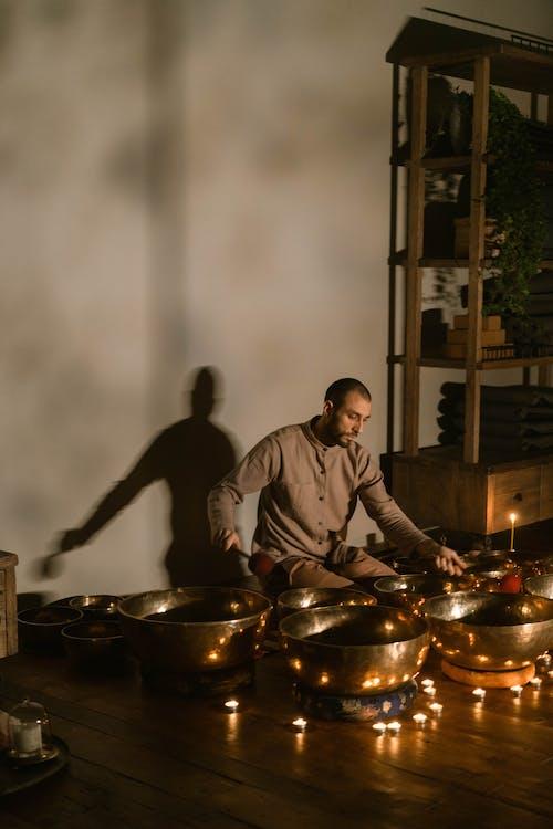 Imagine de stoc gratuită din acasă, adult, arderea lumânării