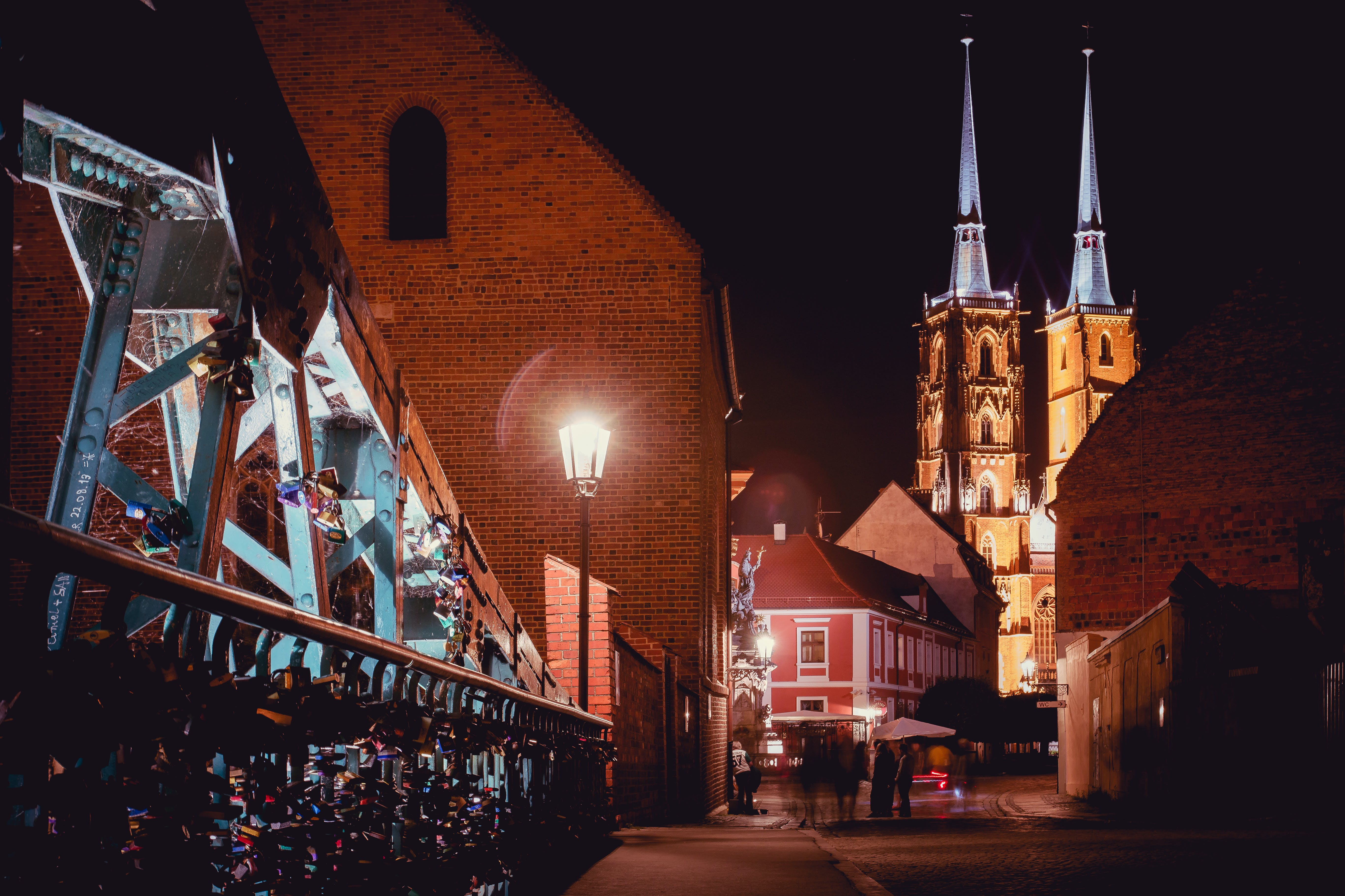 Free stock photo of bridge, cathedral, night, poland