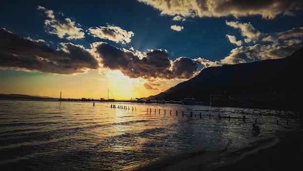 Free stock photo of sea, sky, sunset, beach