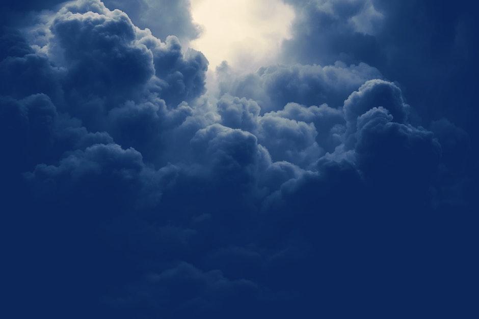 atmosphere, blue, cloud