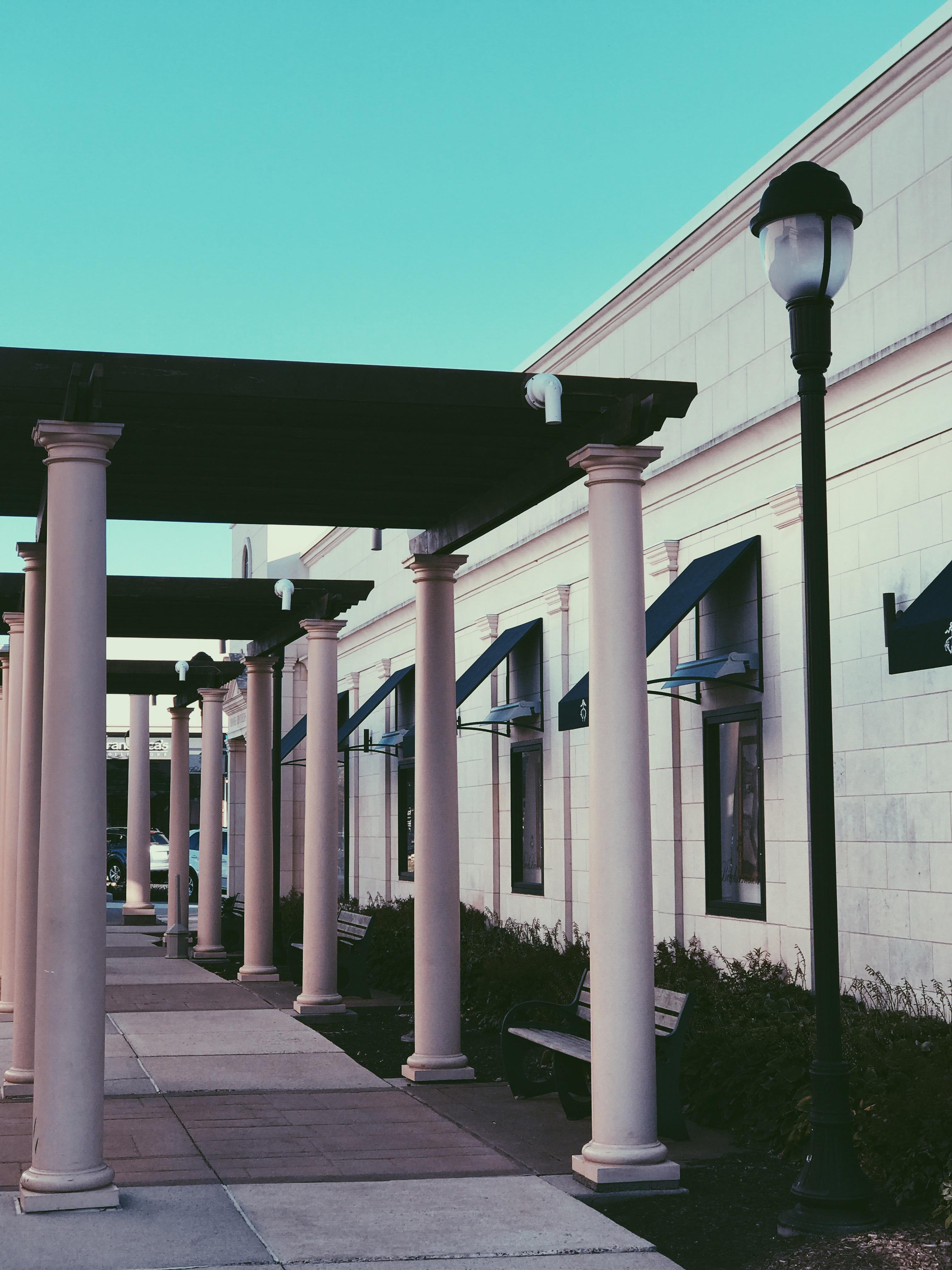 Light Post Near Pillars