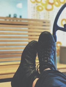 Free stock photo of bench, fashion, shoes, blur