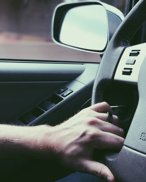 Free stock photo of car, car interior, driving, hand