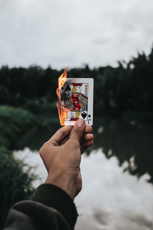 Gratis stockfoto met brand, brandend, creditcard