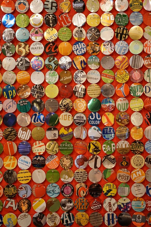 Red Green and Yellow Round Button Pin Lot