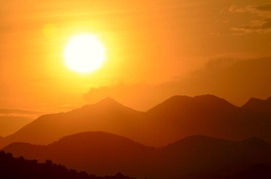 Free stock photo of mountains, sunset, summer, mountain