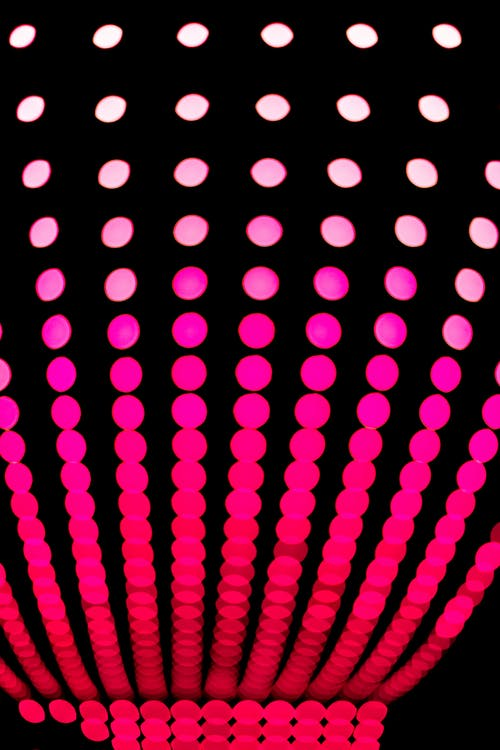 Pink and Red Polka-dot Pattern Artwork