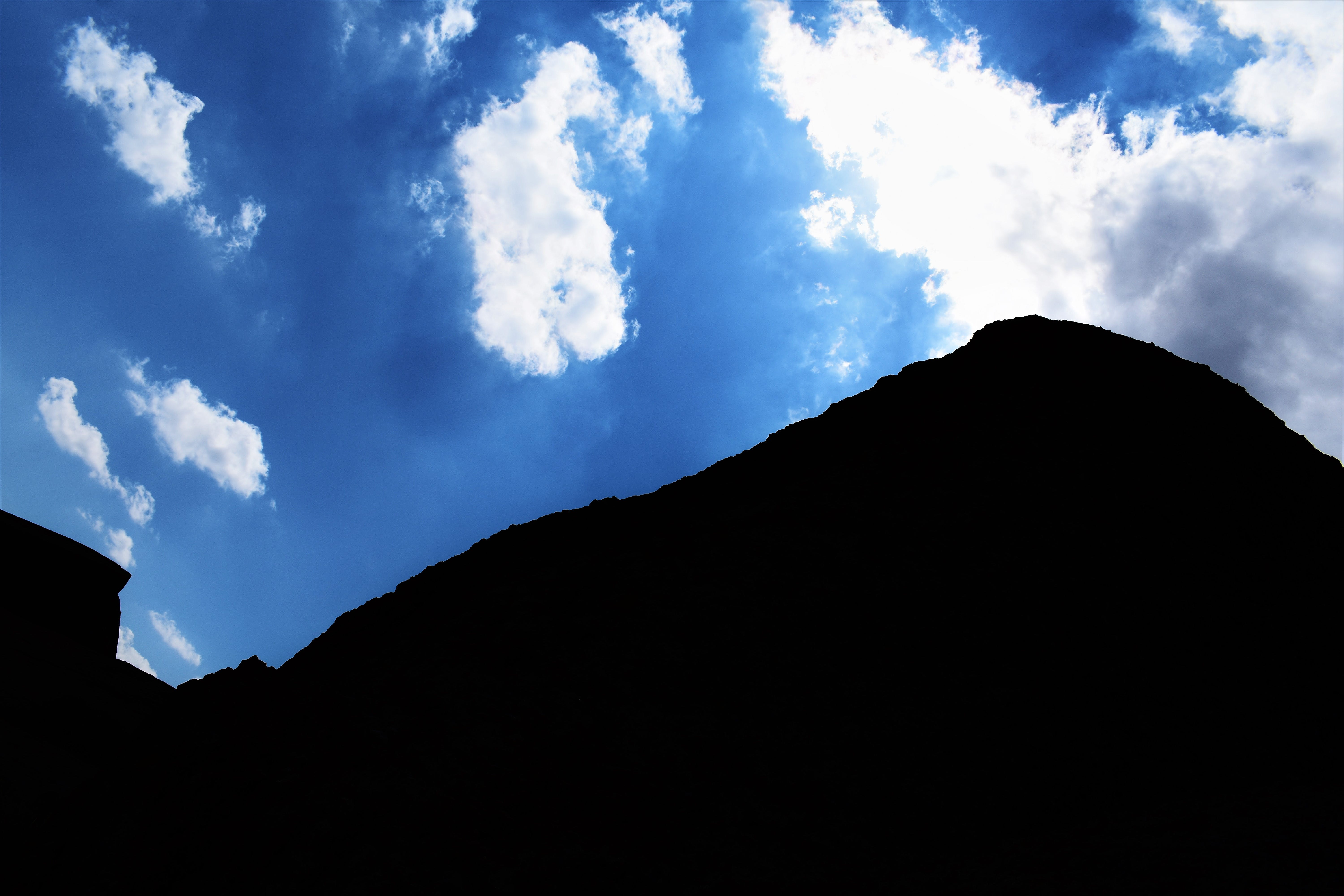 Free stock photo of blue, camping, clouds, color