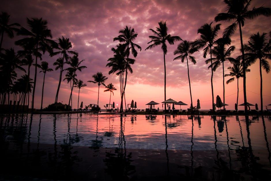 Sky sunset beach vacation