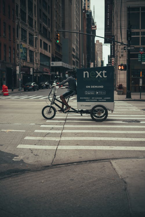 Free stock photo of bike, biker, buildings