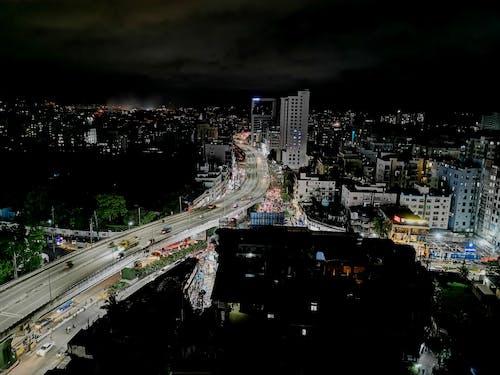 Free stock photo of at night, city night, City Street, top view