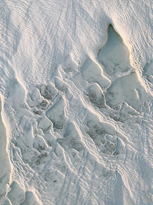 Aerial View of White Sand Beach