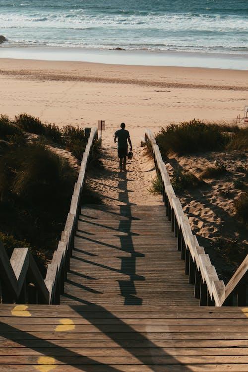 ステップ, ビーチ, ブリッジの無料の写真素材