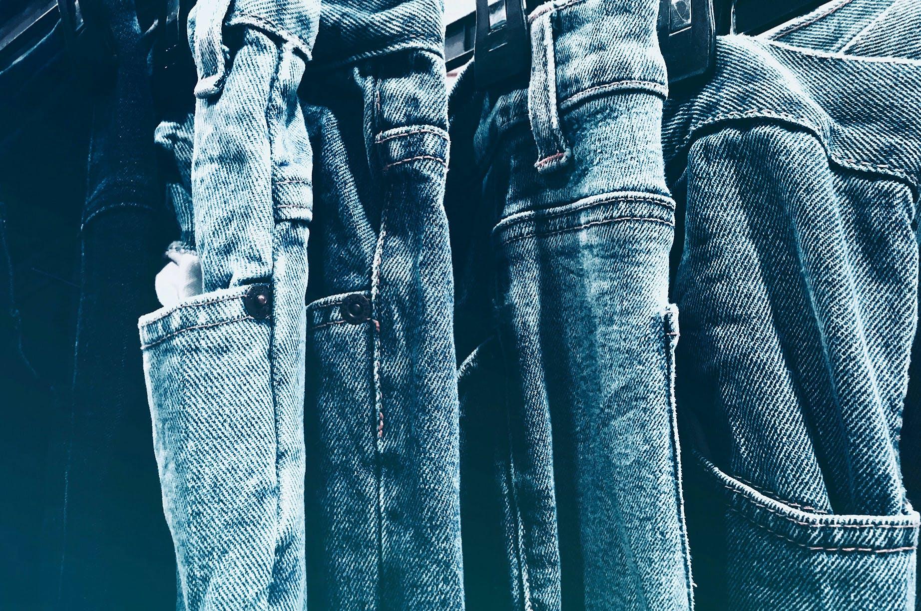 blue jeans, close-up, cloth