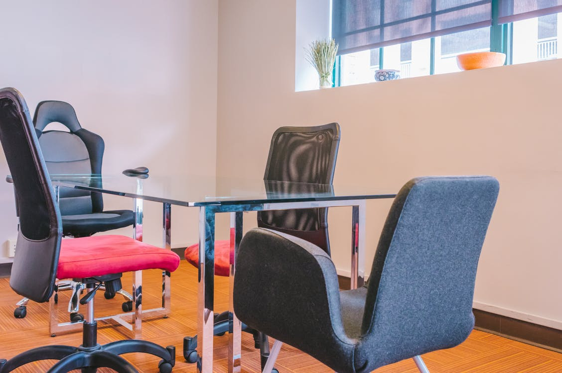 Free stock photo of chairs, conference room, office