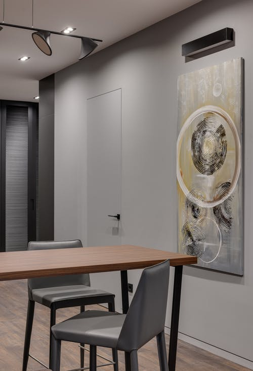 Interior of stylish dining room in apartment