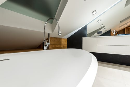 Contemporary bathroom with modern light furniture
