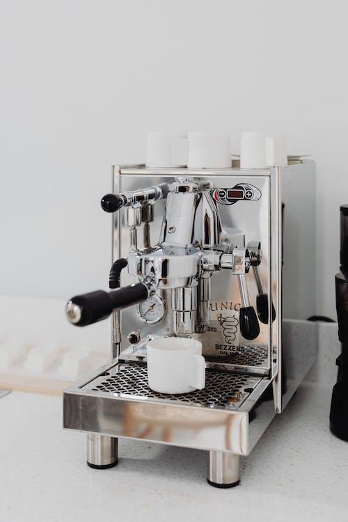 Бесплатное стоковое фото с chrome, в помещении, завтрак, кофе