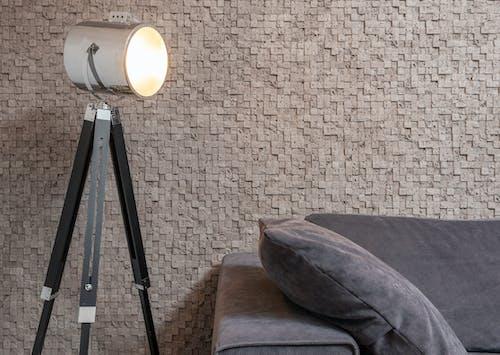 Lámpara Incandescente En La Sala De Estar Moderna