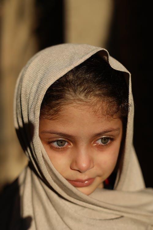 Close-Up Photo of a Pretty Girl Wearing Hijab