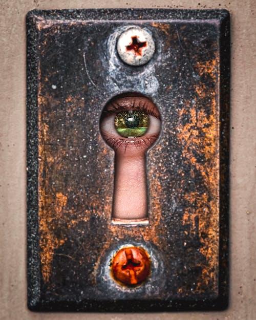 Free stock photo of bolts, door, eye