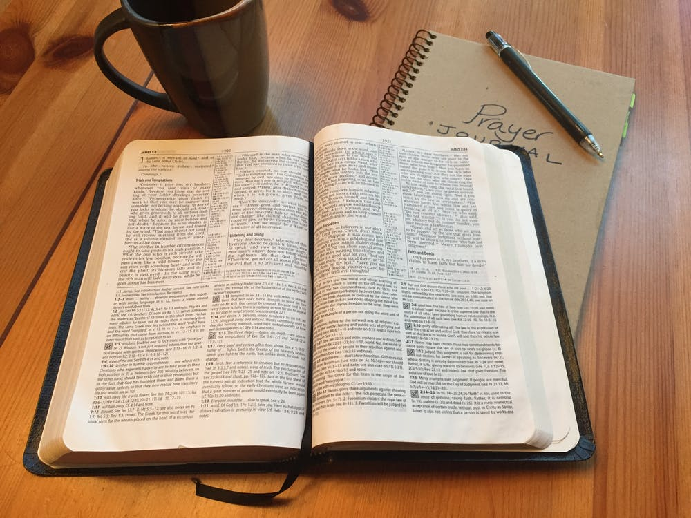 Free stock photo of bible, devotions, journal