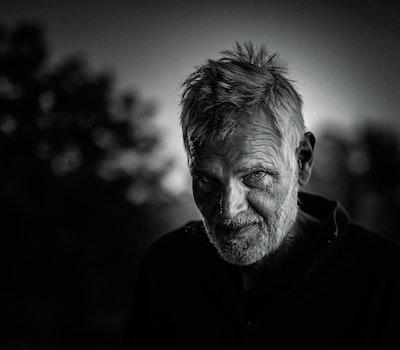 Free stock photo of black-and-white, man, person, dark