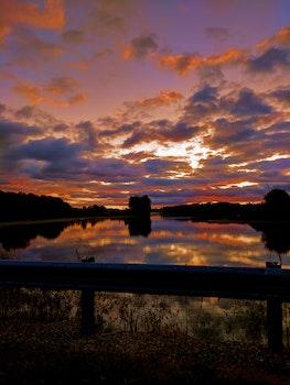 Free stock photo of nature, sunset, sunrise, lake