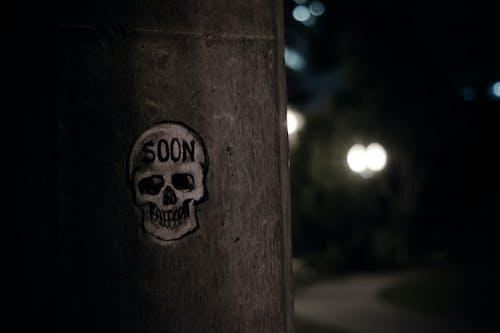 Imagine de stoc gratuită din craniu, graffiti, urban
