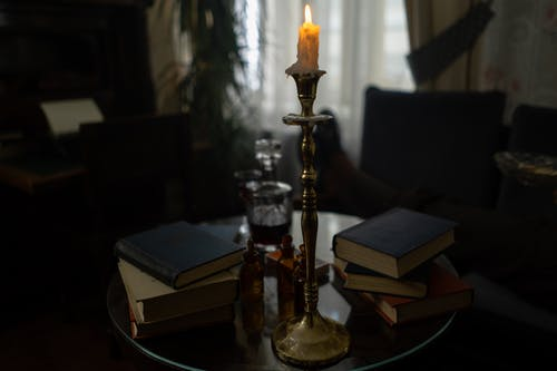 Gold and White Hookah on Brown Wooden Table
