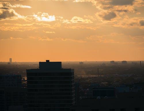 건물, 경치, 구름, 오렌지의 무료 스톡 사진