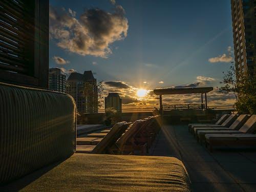 광선, 구름, 블루, 오렌지의 무료 스톡 사진