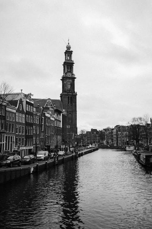 Δωρεάν στοκ φωτογραφιών με bw, ακτή, Άμστερνταμ, ανάχωμα