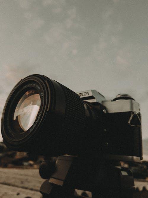 Close Up Photo of Black Analog Camera