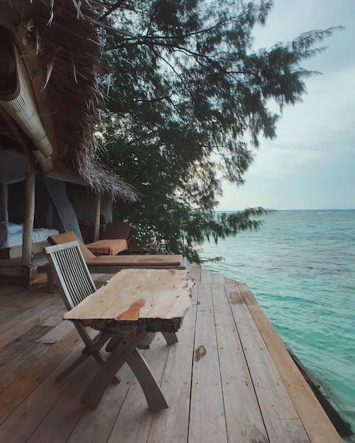 Free stock photo of beach, blue, hut, indonesia