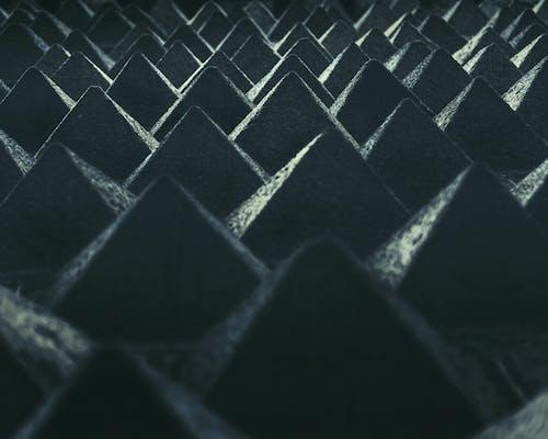 Základová fotografie zdarma na téma architektonická budova, černá a modrá, geometrický