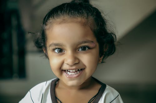 Portrait Photo of Cute Innocent Young Girl