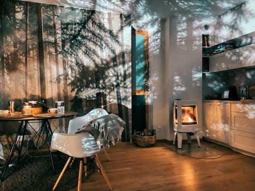 Fotos de stock gratuitas de adentro, asiento, casa, chimenea